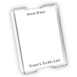 Adams Agenda - White with holder