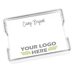 Your Logo Agenda - White with holder