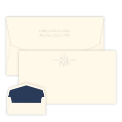 Virginia Monogram Chesapeake Card - Embossed