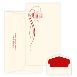 Fiona Monogram Chesapeake Card - Raised Ink