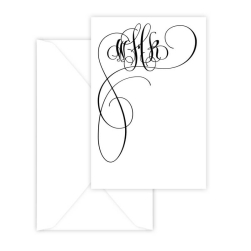 Celeste Monogram Vertical Enclosure - Raised Ink