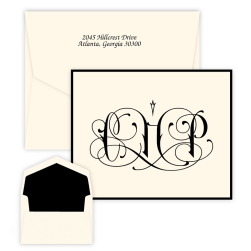 Santana Monogram Note - Raised Ink