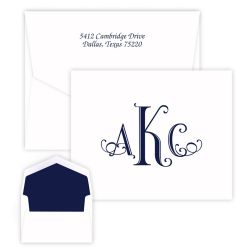 Wheaton Monogram Note - Raised Ink
