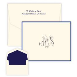Classic Monogram Note - Raised Ink