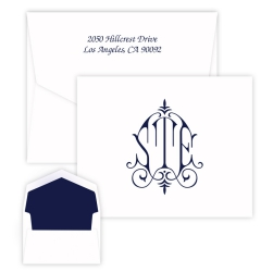 Whitlock Monogram Note - Raised Ink