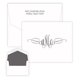 Sienna Monogram Note - Raised Ink