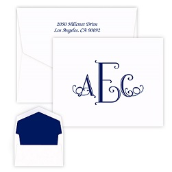 Cervelli Monogram Note - Raised Ink