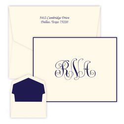 Notable Monogram Oversized Note - Raised Ink
