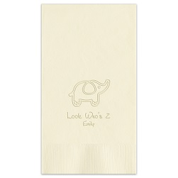 Animal Guest Towel - Embossed
