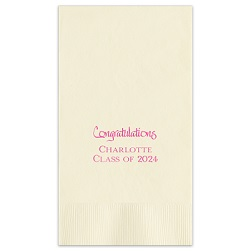 Celebration Guest Towel - Foil-Pressed