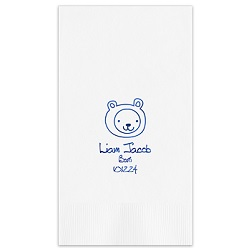 Animal Guest Towel - Foil-Pressed