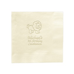 Animal Napkin - Embossed