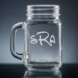 Altamira Monogram Mason Jar