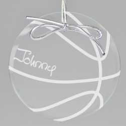 Basketball Keepsake Ornament - Circle